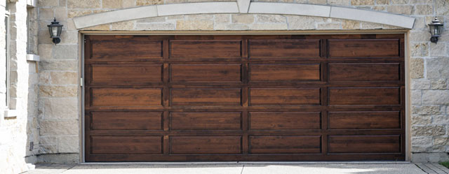 New wooden garage door Yonkers New York